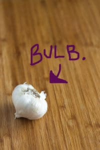 This is a bulb of garlic. The WHOLE thing.
