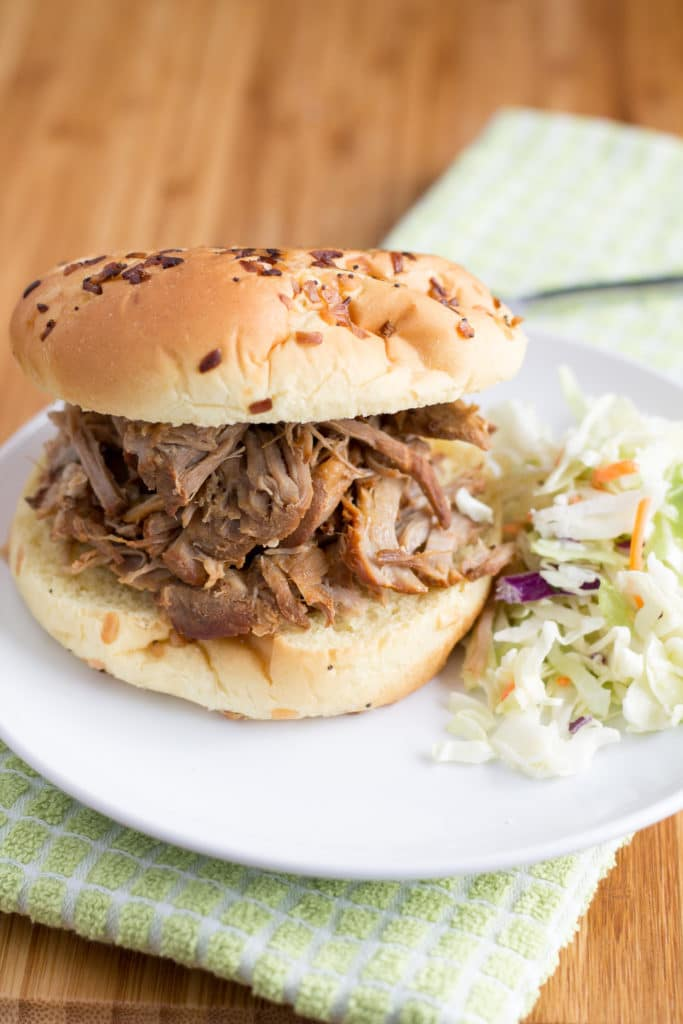 Pulled Pork on a plate with slaw