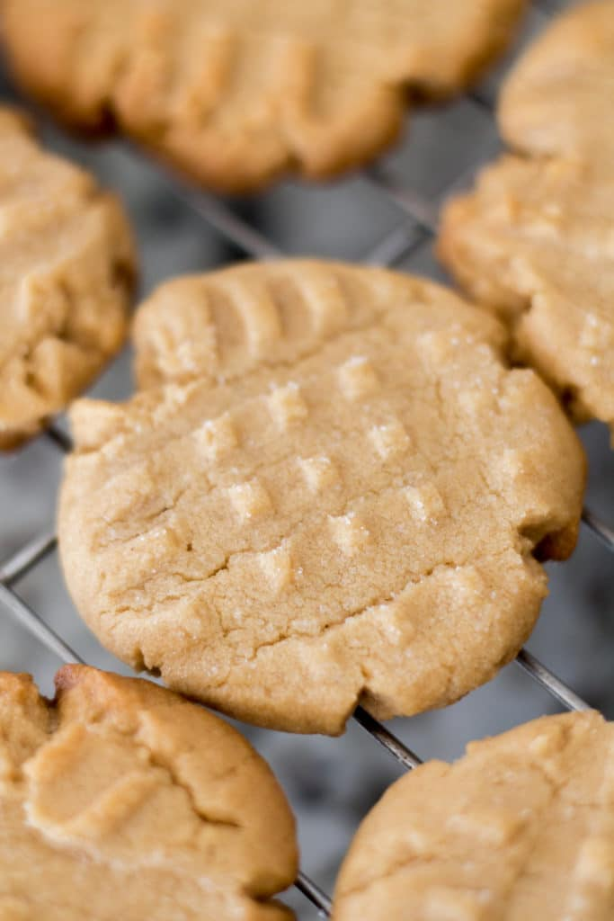 Easy peanut butter cookies. A tried and true classic! Enjoy with a glass of cold milk, of course. :)