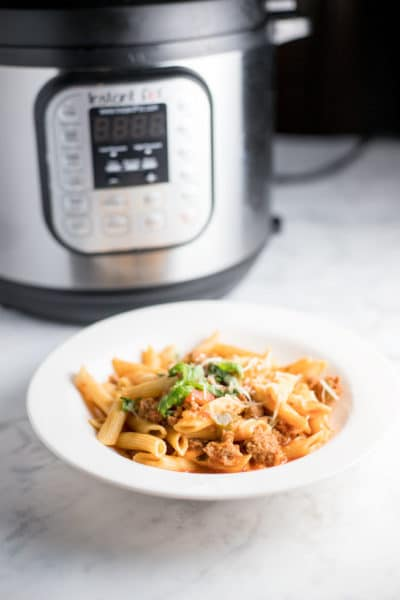 Instant Pot Penne with Turkey Sausage