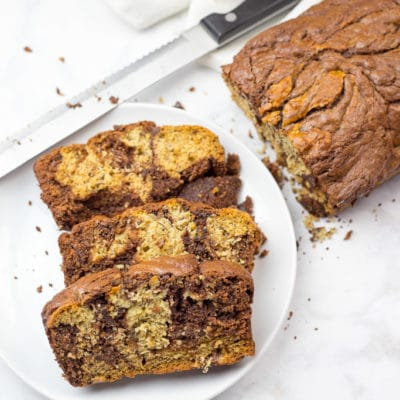Banana Bread with Nutella Swirls