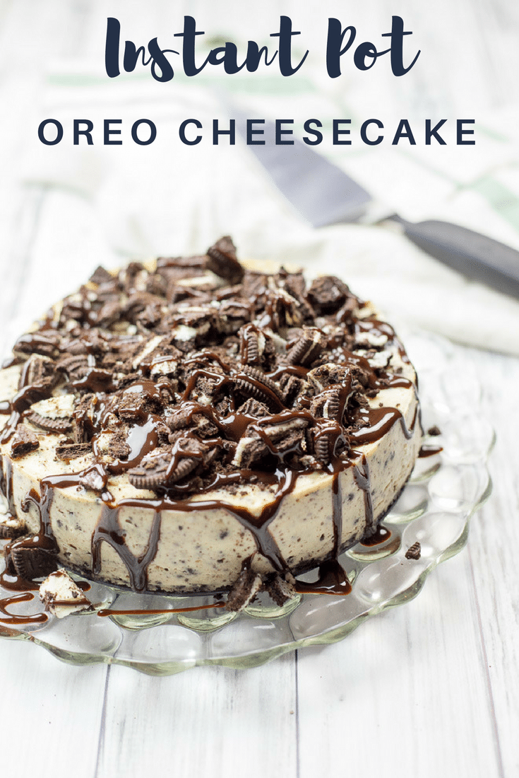 Instant Pot Oreo Cheesecake Cookbooks And Coffee