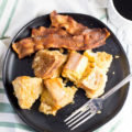 french toast and bacon on a plate