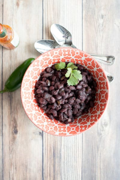 instant pot black beans in a bowl